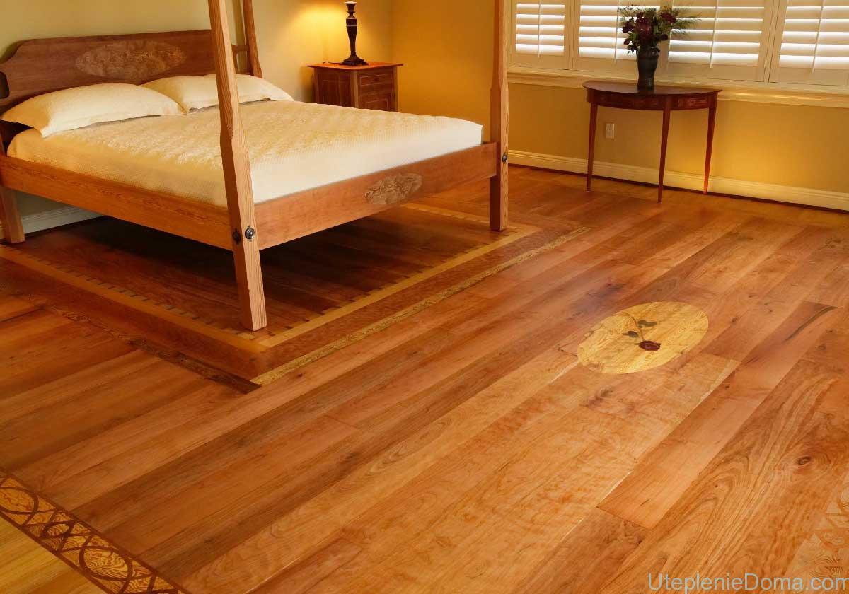 устройство деревянного пола в частном доме схема