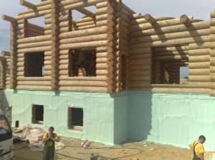 Утепление фундамента деревянного дома снаружи