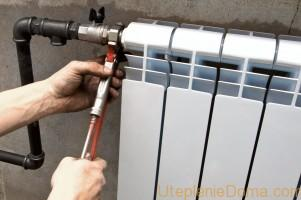 Правила установки батарей отопления