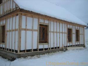 Технология утепления деревянного дома пенопластом