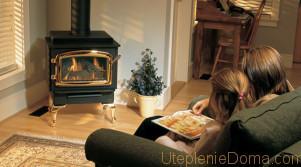 Отопление дачного дома печью