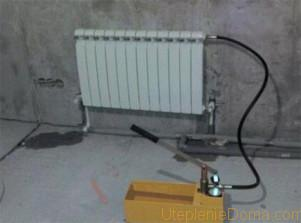 опрессовка батарей отопления