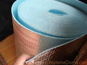 теплоизоляционный рулонный материал