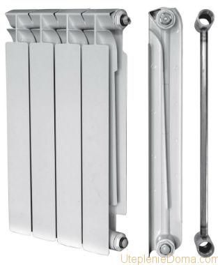 Биметаллические батареи отопленияразмеры