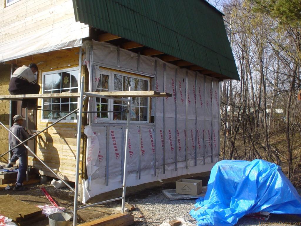 Утепление деревянного дома снаружи пенополистиролом