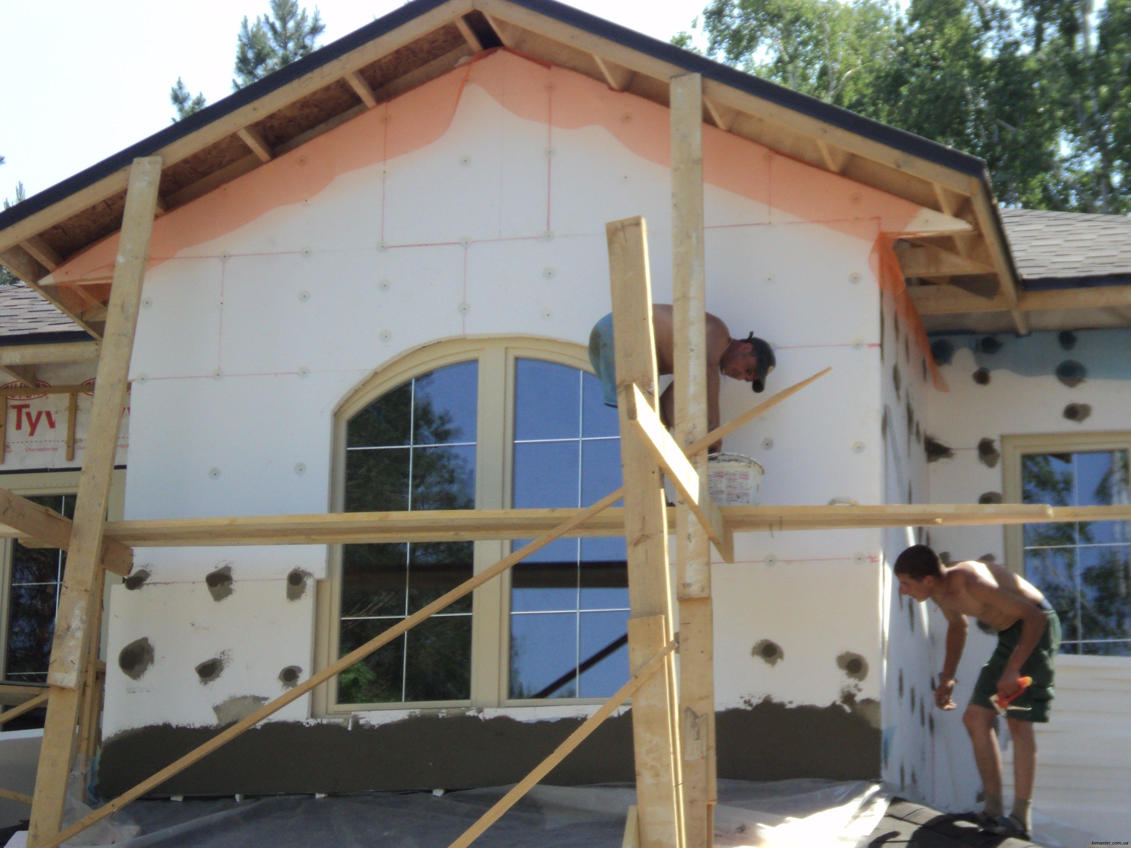 Утепление фасада деревянного дома пенополистиролом