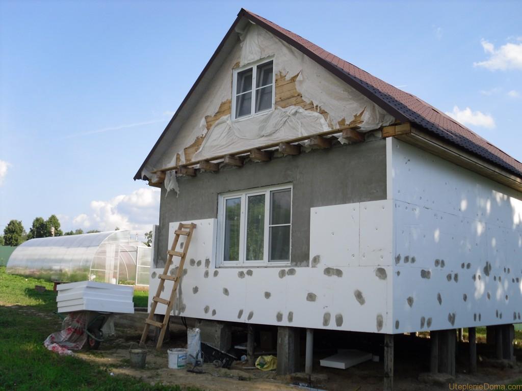 Как утеплить дом пеноплексом снаружи