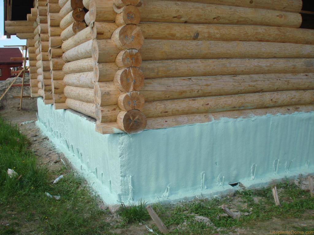 Утеплить фундамент деревянного дома снаружи пеноплексом своими руками фото 255