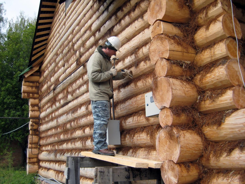 Утепление деревянного дома своими руками