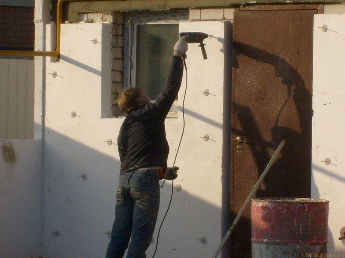 Утепление фасадов пенопластом технология