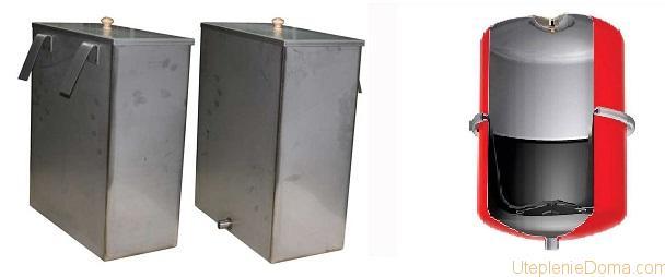 Виды расширительных бачков для отопления открытого и закрытого типа