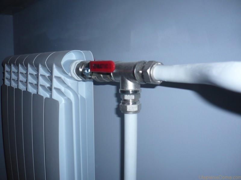 подсоединении радиаторов отопления к трубам