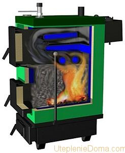 Устройство твердотопливного классического котла отопления
