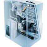 Принцип работы конденсатных котлов заключается в том, чтобы отдать тепло от угарного газа теплоносителю