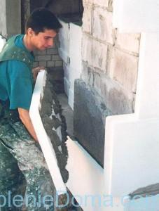 Технология наклейки листов пенопласта