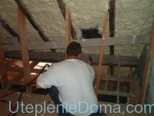 Утепление низкой крыши изнутри