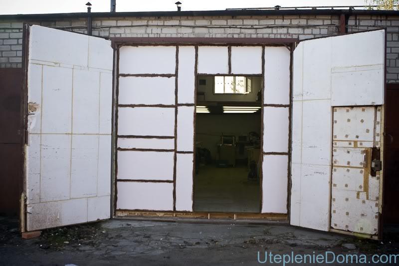 Утепление гаражных ворот