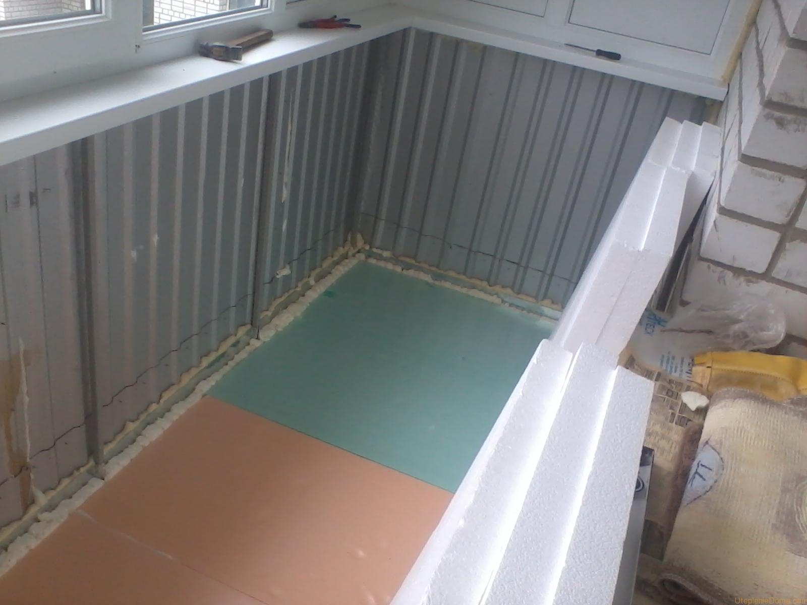 Уутепление балкона изнутри своими руками