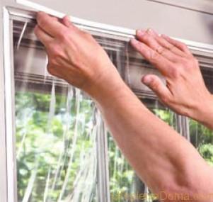 Как утеплить зимой пластиковые окна