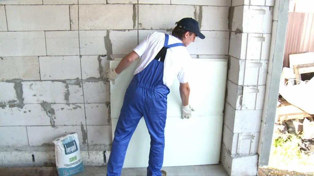 Как утеплить стены своими руками пенопластом