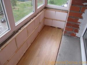 Как правильно утеплить пол балкона