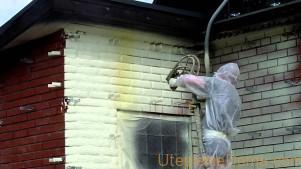 Утепление дома пенополиуретаном