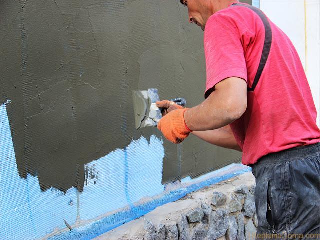 Пенополистирол на стену своими руками