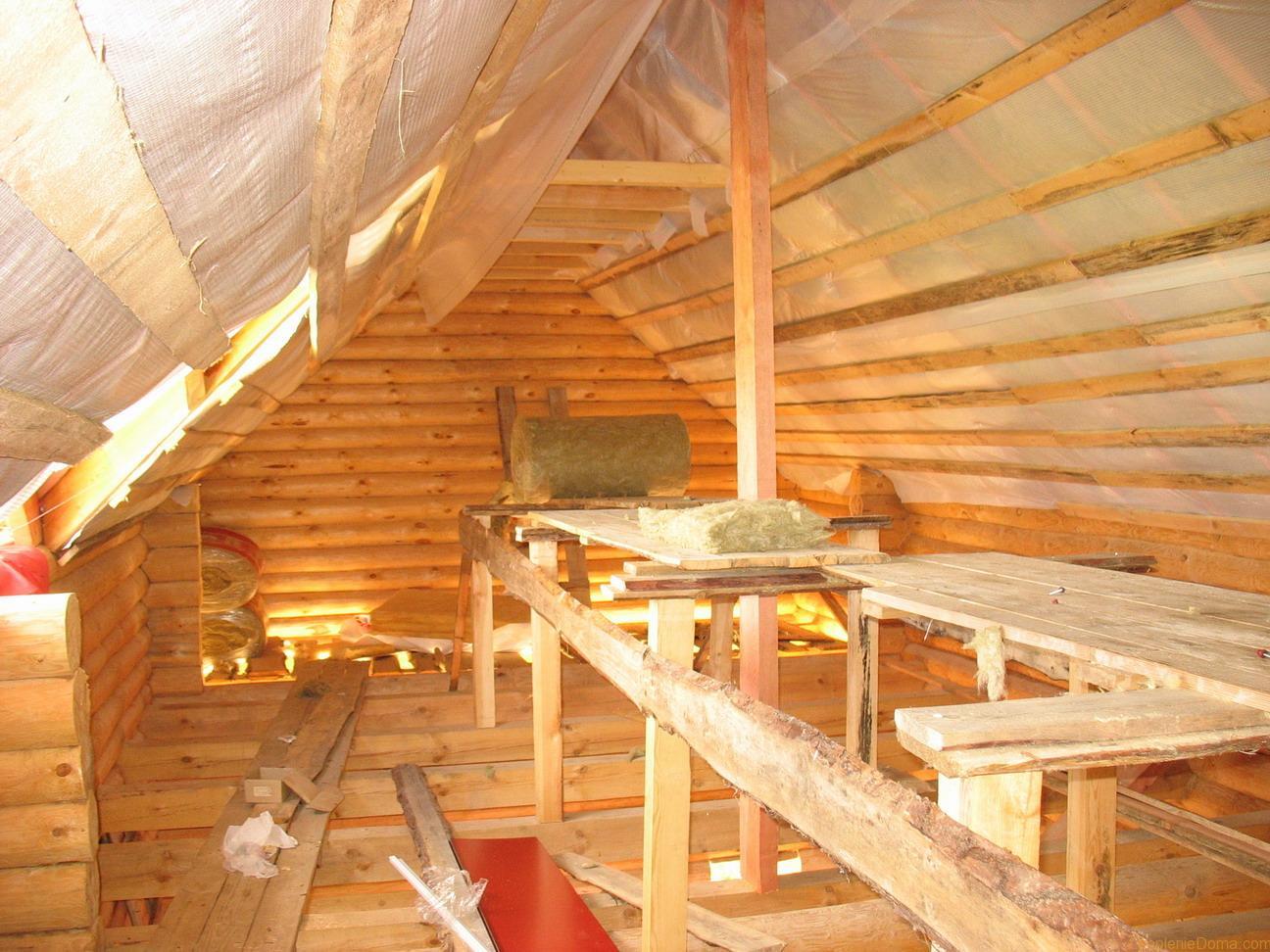 Потолки деревянного дома своими руками