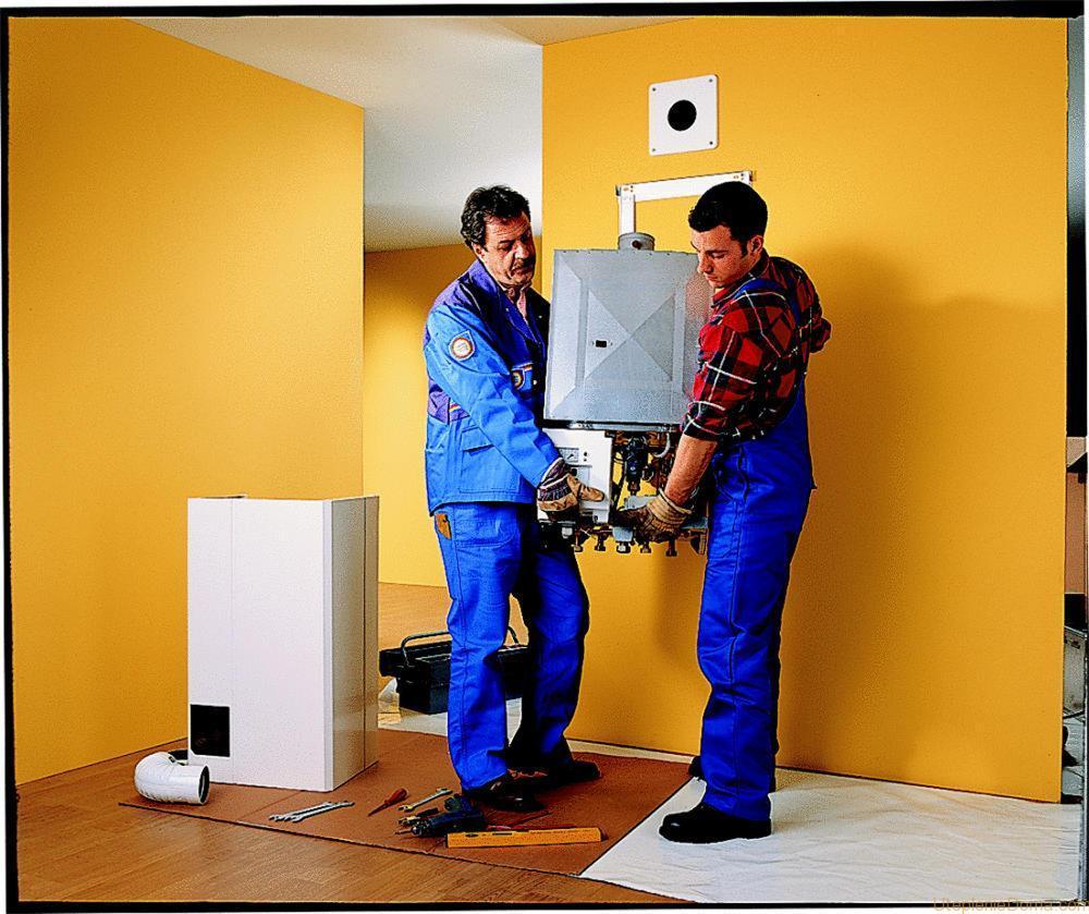 схема работы газового котла в частном доме