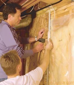 Утепление стен изнутри деревянного дома