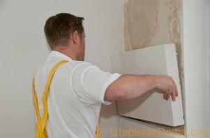 утепление стен пенопластом своими руками внутри