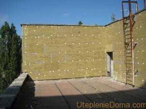 Наружное утепления фасада минеральной ватой