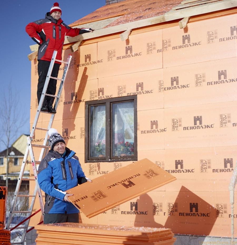 Утепление домов снаружи своими руками
