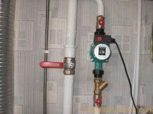 Насос циркуляционный для отопления установка
