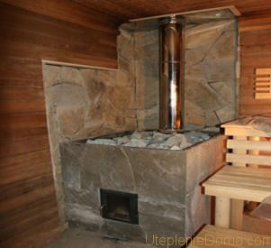 Отопление в бане от каменной печи