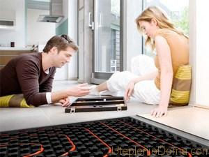 """Как отопить частный дом электричеством путем установки """"теплого пола"""""""