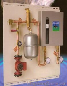 Схема отопления гаража с электрокотлом