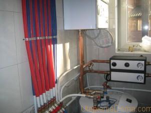 Отоплении частного дома газовыми баллонами
