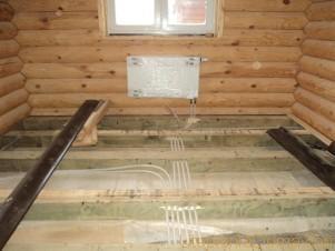 Установка отопления в деревянном доме