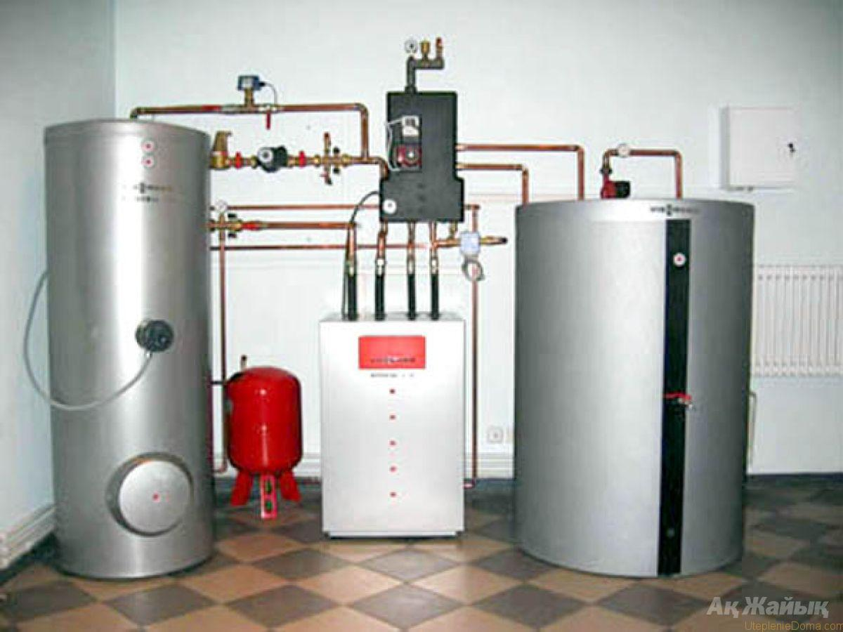 схема отопления в 2х этажном доме от электро котла