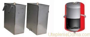 Расширительные бачки для отопления открытого и закрытого типа