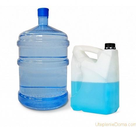 какую жидкость залить в систему отопления