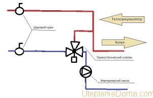 система отопления с теплоаккумулятором схема