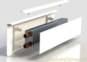 Плинтусные радиаторы отопления водяные