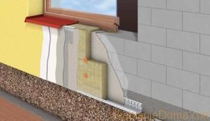 утепление стены из шлакоблока