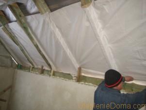 Пароизоляция стен внутри помещения