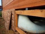 как утеплить свайный фундамент деревянного дома