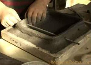 Очень важный этап изготовления изразцов для печи своими руками – это формирование румпы