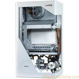 В агрегатах с естественной тягой камера горения открытого типа