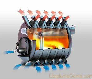 Более интересен метод сжигания топлива, ведь данная печь пиролизного действия